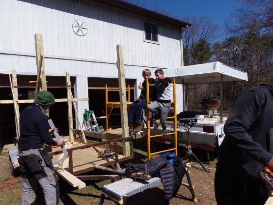 The Farm Cart being built at the Land Campus in Oak Ridge
