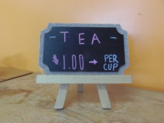 Maria's Tea House Sign